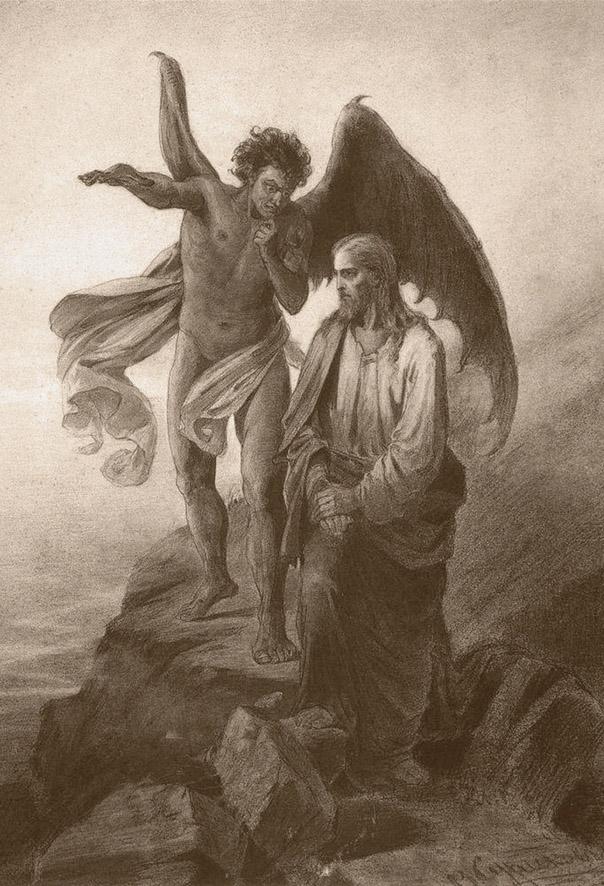 В.И. Суриков. «Искушение Христа». 1872 год