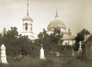 Воскресенская кладбищенская церковь Саратова. Начало ХХ века