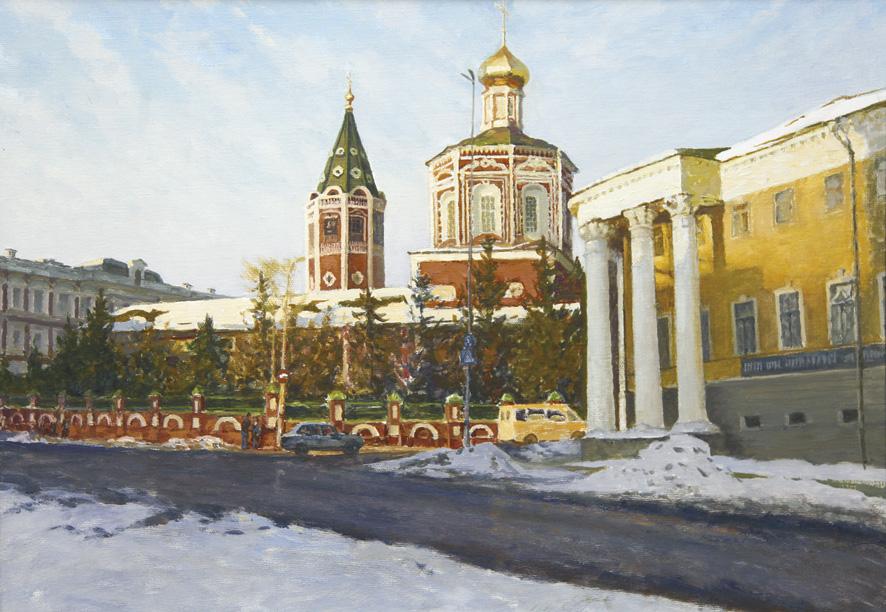 Одна из последних картин заслуженного художника РФ Руслана Львовича Лавриненко с видом Троицкого собора хранится в фонде музея
