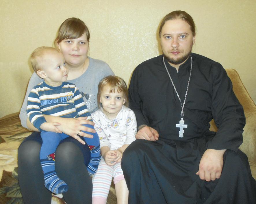 Отец Роман Болотнов, матушка Анастасия, Анна и Марк