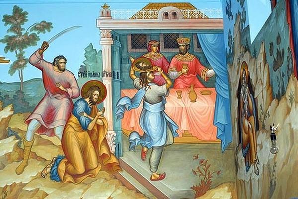 Усекновение главы Иоанна предтечи. Фреска