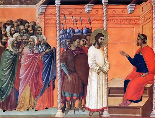 Иудейские первосвященники предают Христа Пилату