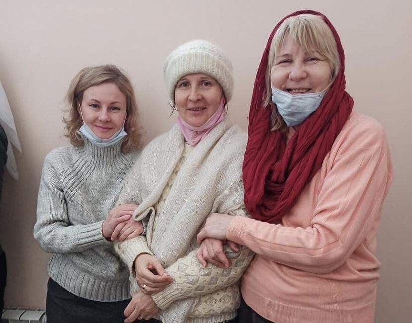 Слева направо: Елена Лосева, Марина Мракина, Валентина Шильникова