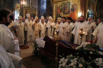 Похороны архимандрита Матфея в Троице-Сергиевой Лавре