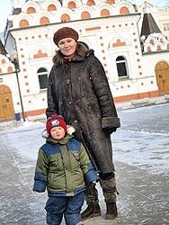 Матушка Надежда Кузнецова с сыном Арсением